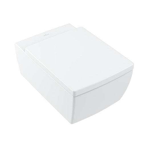 Чаша подвесного унитаза Villeroy & Boch Memento 2.0 4633R0RW (4633 R0 RW) Stone White, CeramicPlus