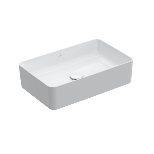 Раковина накладная Villeroy & Boch Collaro 4A2056RW (4A20 56 RW) Stone White, CeramicPlus (560х360 мм)