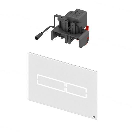 Панель смыва TECE TECElux Mini 9240960 с электронным сенсорным приводом (белое стекло)