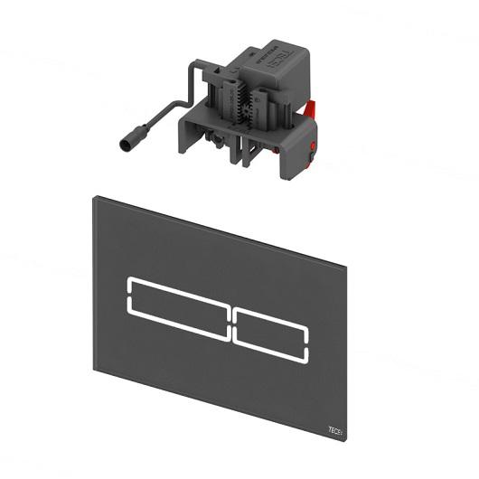 Панель смыва TECE TECElux Mini 9240961 с электронным сенсорным приводом (черное стекло)
