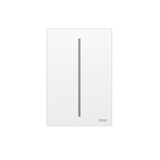 Электронная панель смыва для писсуара TECE TECEfilo 9242061 (белое стекло), питание от батареи 7,2 В