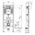 Инсталляция для подвесного унитаза-биде TECE TECEprofil 9300079 (9300379)