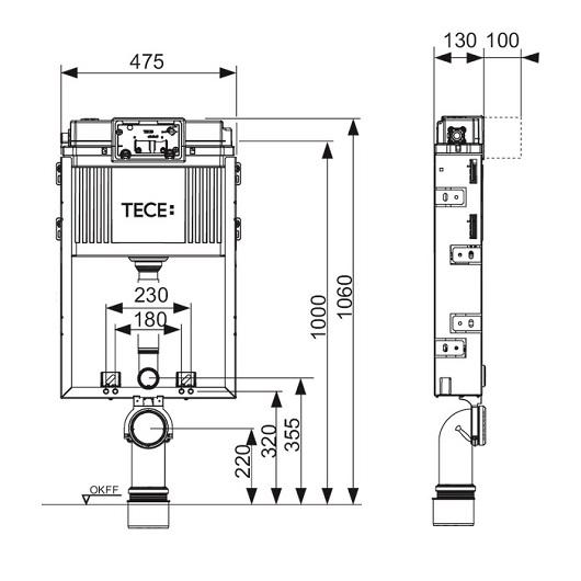 Инсталляция для подвесного унитаза TECE TECEbox 9370000 (9370300)