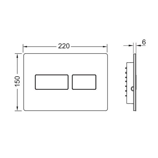 Панель смыва TECE TECEsolid 9240433 (белый матовый)