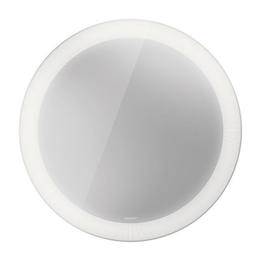 Зеркало с подсветкой Duravit Happy D.2 Plus HP7480S0000 (⌀700 мм, декор «Radial»)