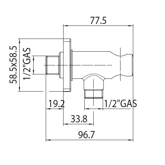 Шланговое подсоединение с держателем лейки Bossini CB3000 (CB4000) Black Matt (черный матовый)