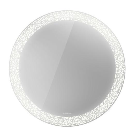 Зеркало с подсветкой Duravit Happy D.2 Plus HP7480G0000 (⌀700 мм, декор «Organic»)