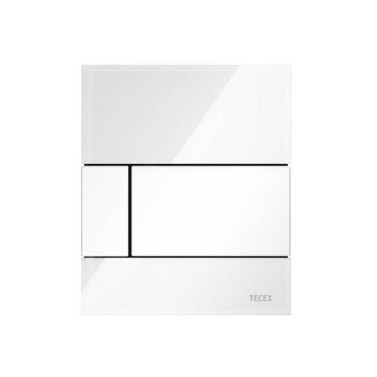 Стеклянная панель смыва TECE TECEsquare 9242800 (белое стекло/клавиша белая)