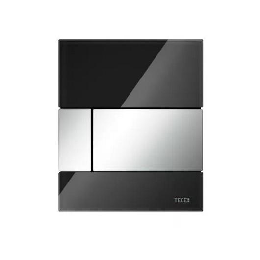 Стеклянная панель смыва TECE TECEsquare 9242807 (черное стекло/клавиша хром глянцевый)