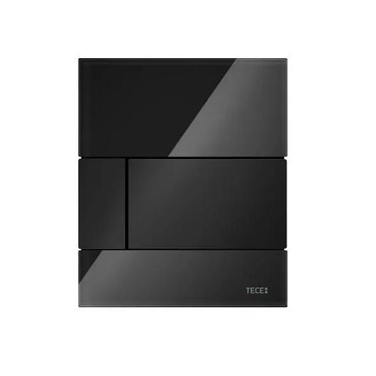 Стеклянная панель смыва TECE TECEsquare 9242809 (черное стекло/клавиша черная)