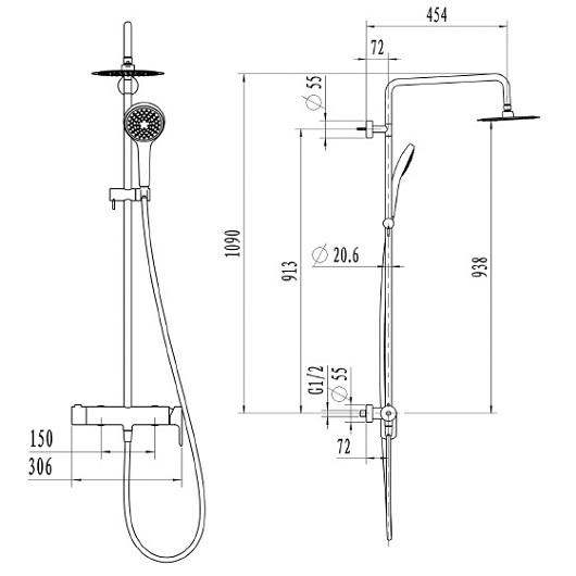 Душевая система Villeroy & Boch Embrace TVS1082000461