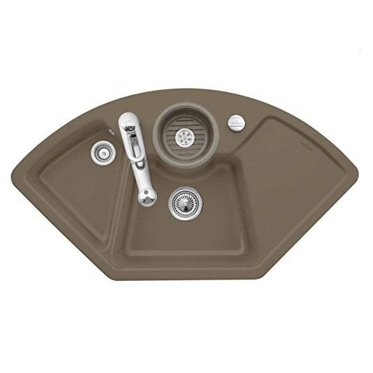 Кухонная мойка Villeroy & Boch Solo Eck 670802TR (6708 02 TR) Timber CeramicPlus (1075×600 мм)