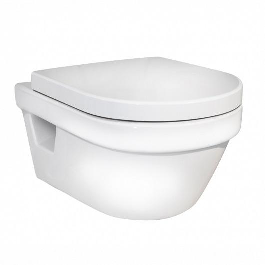 Унитаз подвесной Gustavsberg Hygienic Flush WWC 5G84HR01 безободковый, с сиденьем SoftClose