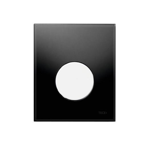 Стеклянная панель смыва TECE TECEloop 9242654 (черное стекло/клавиша белая)