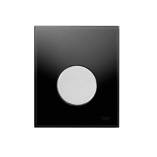 Стеклянная панель смыва TECE TECEloop 9242655 (черное стекло/клавиша хром матовый)