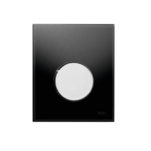 Стеклянная панель смыва TECE TECEloop 9242656 (черное стекло/клавиша хром глянцевый)