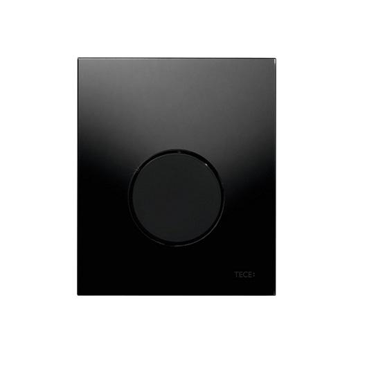 Стеклянная панель смыва TECE TECEloop 9242657 (черное стекло/клавиша черная)