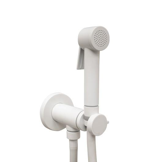 Гигиенический набор Bossini Paloma Flat Mixer Set E37015 White Matt (белый матовый)