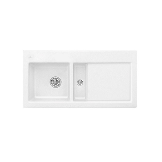 Кухонная мойка Villeroy & Boch Subway 60 677001RW (6770 01 RW) Stone White CeramicPlus (1000×510 мм)