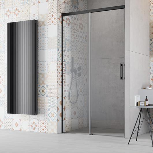 Душевая дверь Radaway Idea Black DWJ 160 L левая (1600х2005 мм) профиль черный/стекло прозрачное 387020-54-01L