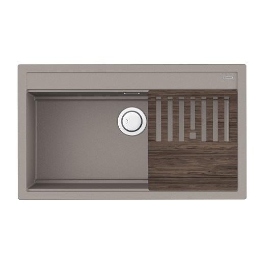 Мойка кухонная Omoikiri Kitagawa 86-LB GR 4993796 (ленинградский серый, 860х510 мм)