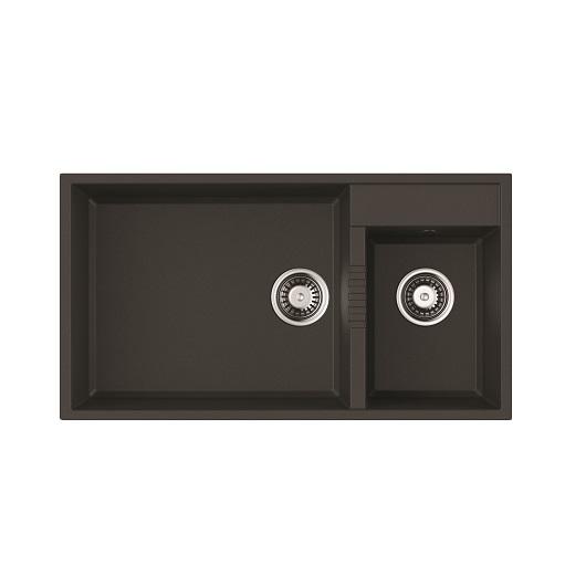 Мойка кухонная Omoikiri Tedori 85-2-U BL 4993940 (черный, 850х465 мм)