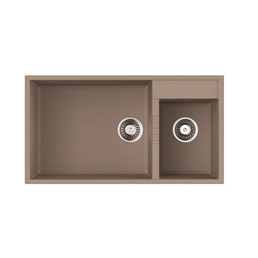 Мойка кухонная Omoikiri Tedori 85-2-U SA 4993942 (бежевый, 850х465 мм)