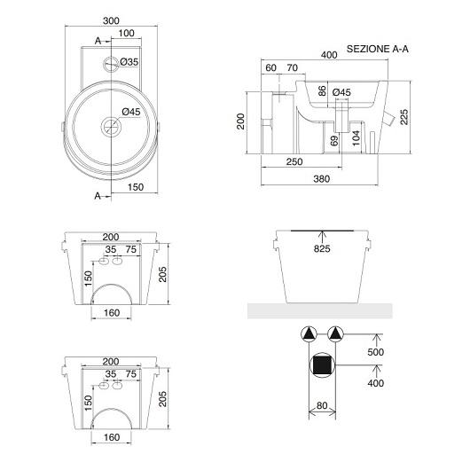 Раковина Scarabeo Bucket 30R 8802NS (300х400 мм)