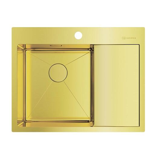 Мойка кухонная Omoikiri Akisame 65 LG-L 4973083 (светлое золото, 650х510 мм)
