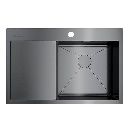 Мойка кухонная Omoikiri Akisame 78 GM-R 4973100 (вороненая сталь, 780х510 мм)