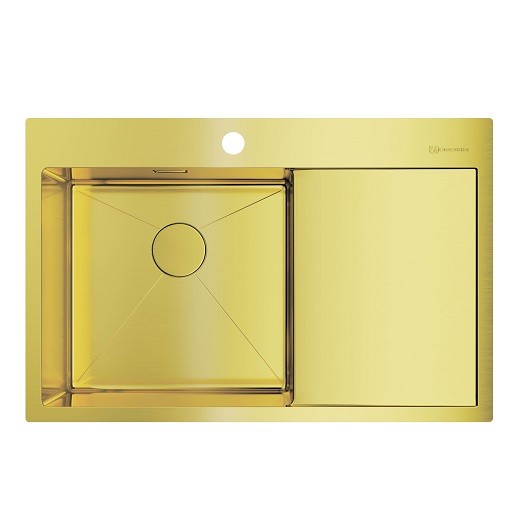 Мойка кухонная Omoikiri Akisame 78 LG-L 4973085 (светлое золото, 780х510 мм)