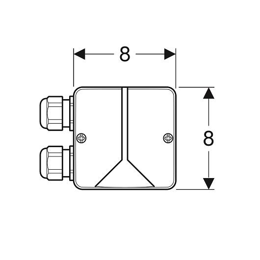 Комбинированная монтажная коробка Geberit 244.120.00.1