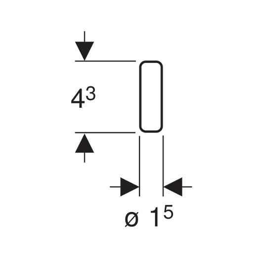 Цилиндрики Geberit DuoFresh 244.186.00.1 (8 шт.)