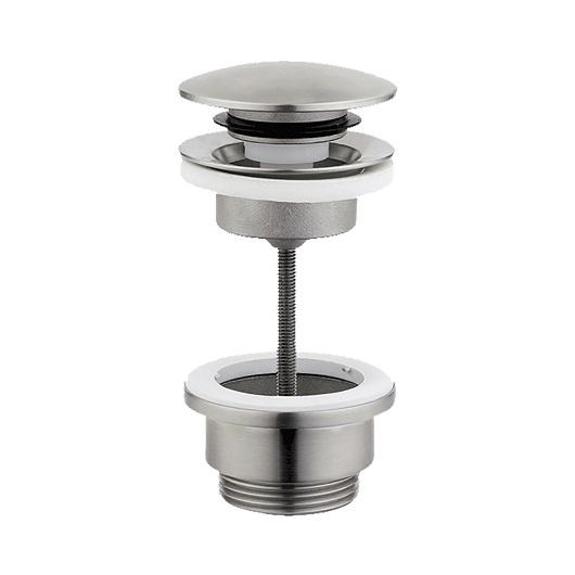 Донный клапан Cisal Xion ZA001621D1 Click-Clack (нержавеющая сталь) универсальный