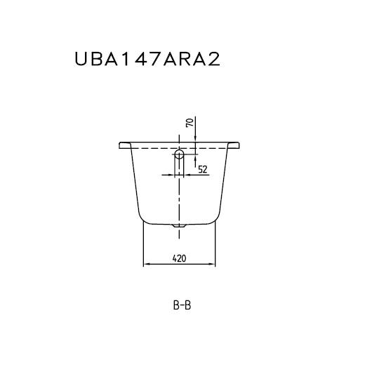 Ванна акриловая Villeroy & Boch Architectura 140х70 UBA147ARA2V-01 (белый Alpin)