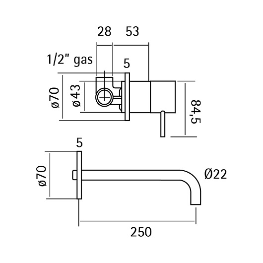 Смеситель для раковины Cisal Xion XI002511D1 (нержавеющая сталь)