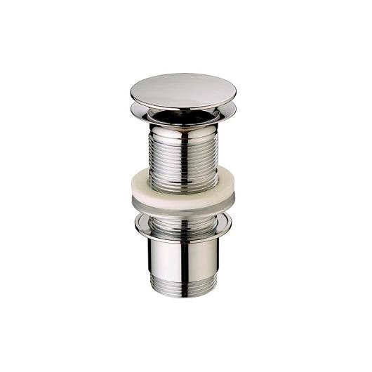 Донный клапан Cisal ZA00161321 (хром глянцевый) для раковин без перелива