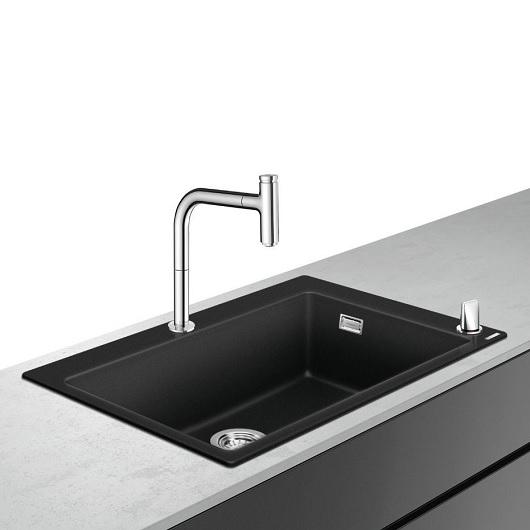 Кухонная мойка со смесителем Hansgrohe C51-F660-07 43218000 (770×510 мм)