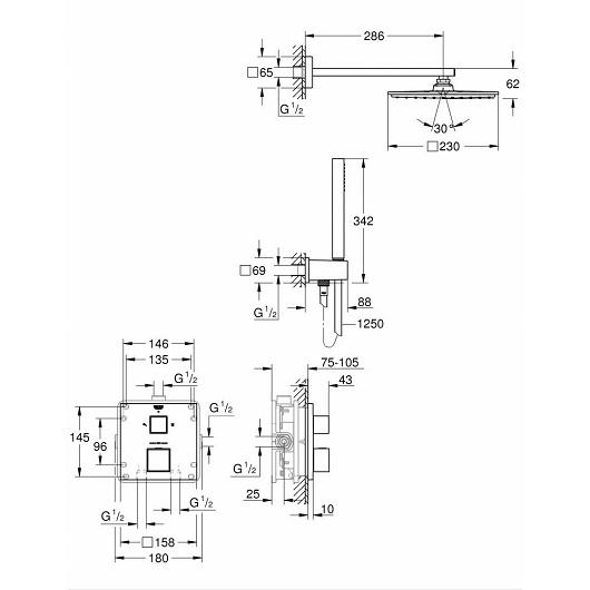 Душевая система Grohe Grohtherm Cube 34741000