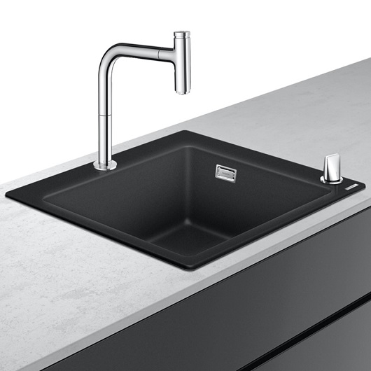 Кухонная мойка со смесителем Hansgrohe C51-F450-06 43217000 (560×510 мм)