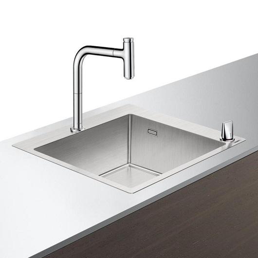 Кухонная мойка со смесителем Hansgrohe C71-F450-06 43201000 (550×500 мм)