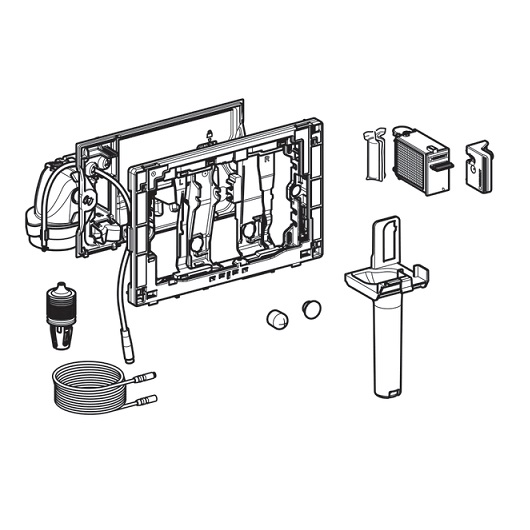 Модуль с автоматическим пуском и приемником для цилиндриков Geberit DuoFresh 115.052.21.1 (для Sigma 8 см)