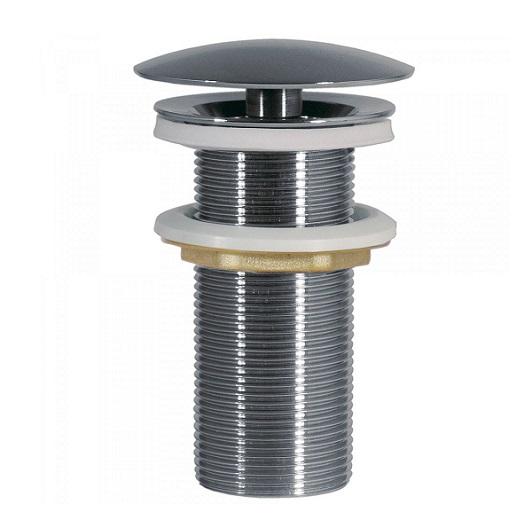 Незапираемый донный клапан TRES 13424030 (хром глянцевый) для раковин без перелива