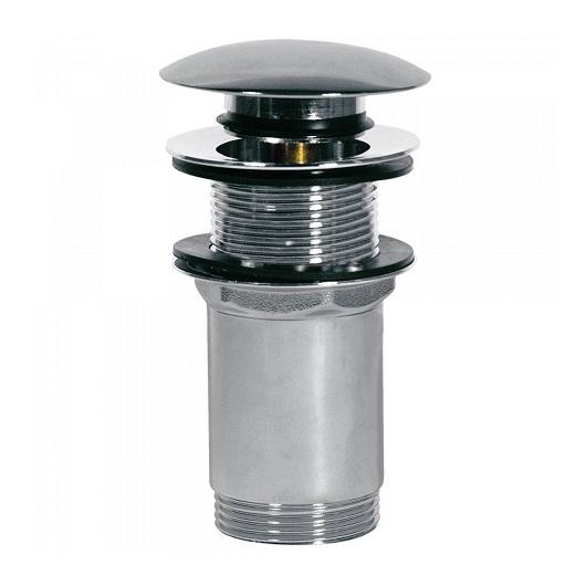 Нажимной донный клапан TRES 13454060 (хром глянцевый) для раковин без перелива