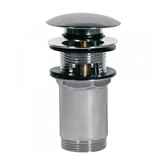 Нажимной донный клапан TRES 13454160 (хром глянцевый) для раковин с переливом