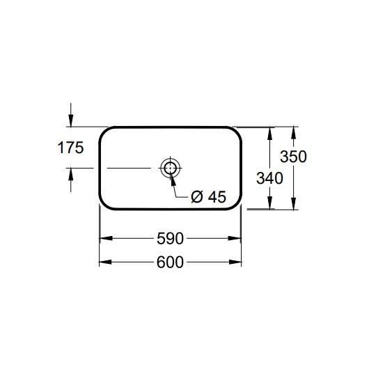 Раковина накладная Villeroy & Boch Finion 414361R1 (4143 61 R1) CeramicPlus (600х350 мм)