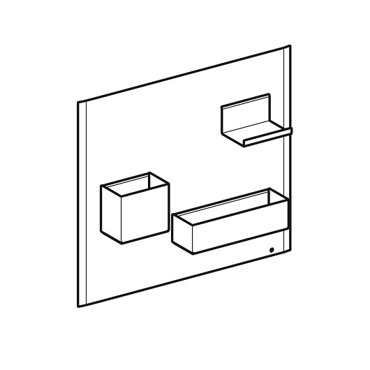 Комплект магнитной доски Geberit Acanto 500.649.01.2 (белый)