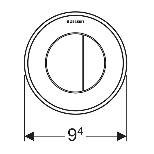 Пневмоклавиша смыва Geberit 116.055.KM.1 (тип 10, двойной смыв)
