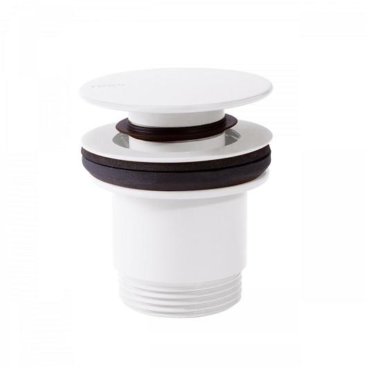 Донный клапан TRES 24284001BM (белый матовый) для раковин с переливом