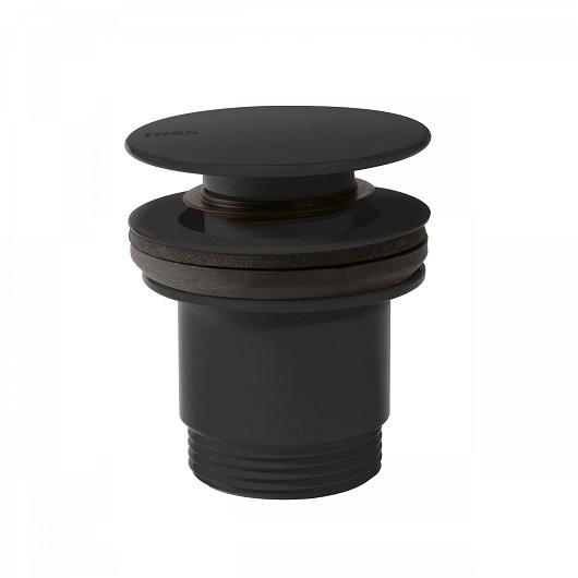 Донный клапан TRES 24284001NM (черный матовый) для раковин с переливом